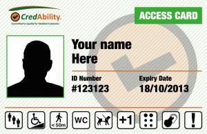 a blank demo version of the Access Card