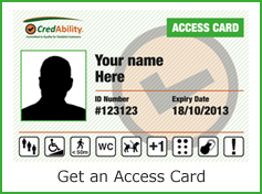 image of the access card - hyperlin to an online application form