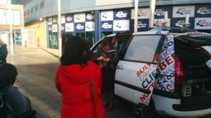 image of the radio car involved in the interview